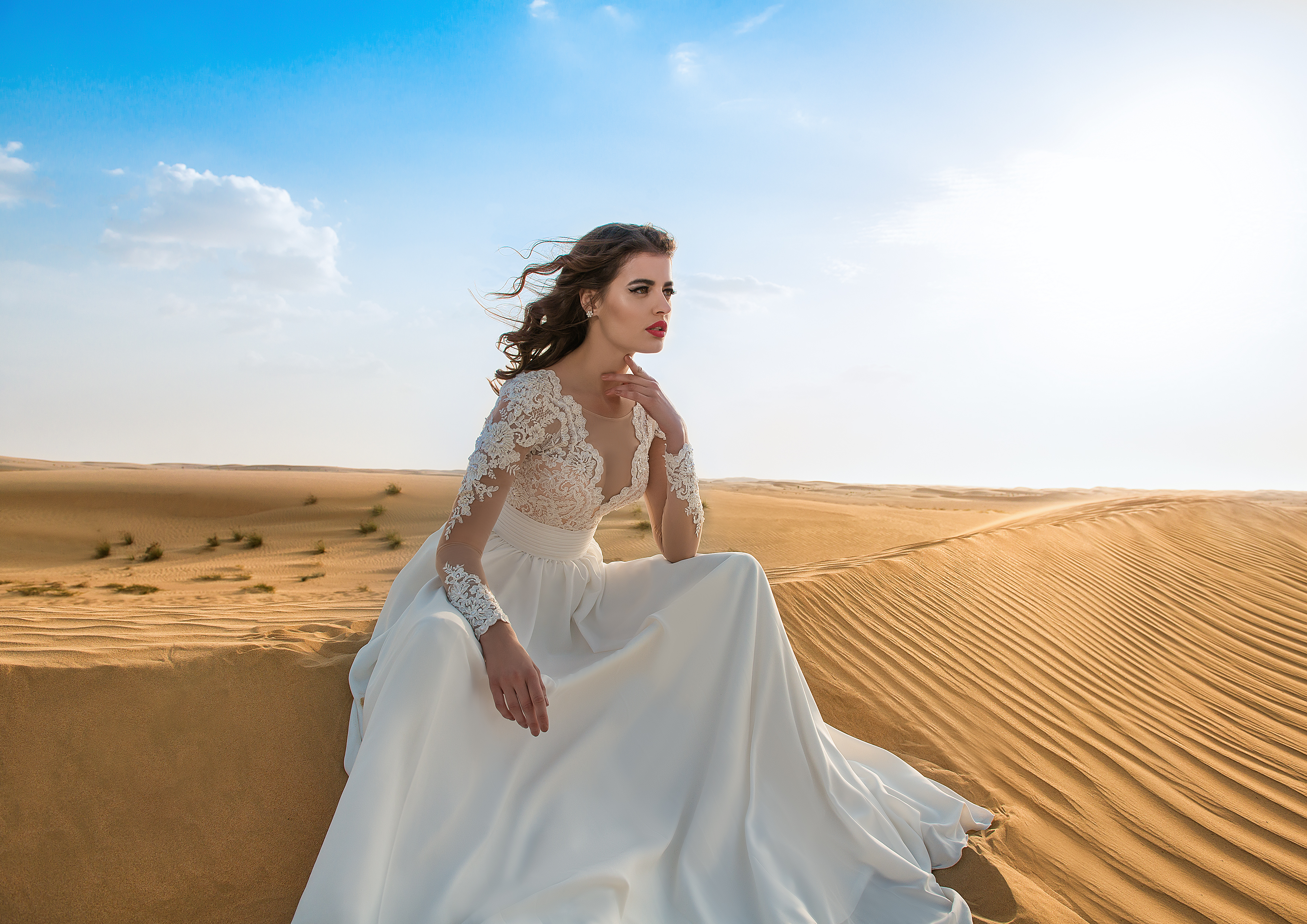 Wedding dress with embroidery-1