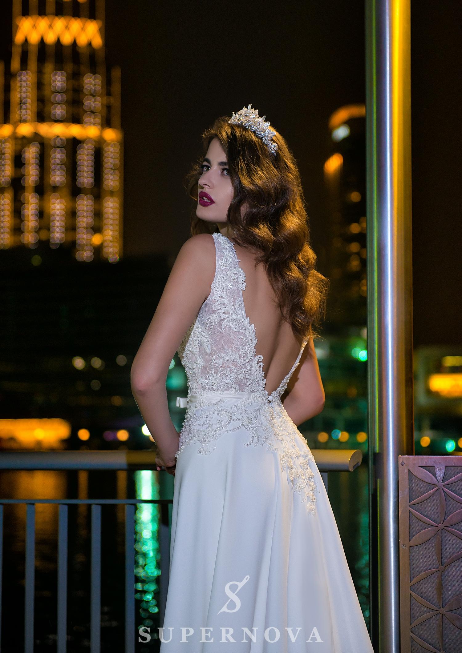 Весільна сукня з бантом-1