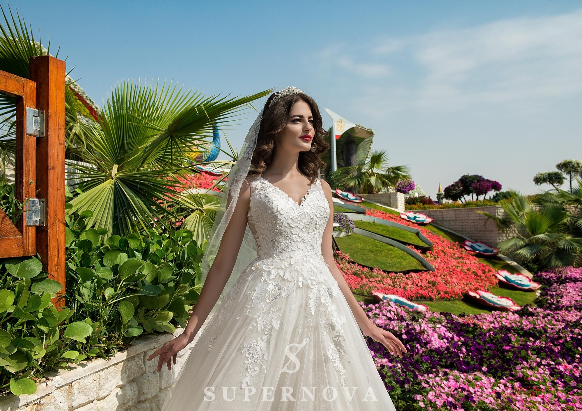 Весільна сукня з корсетом до талії-1