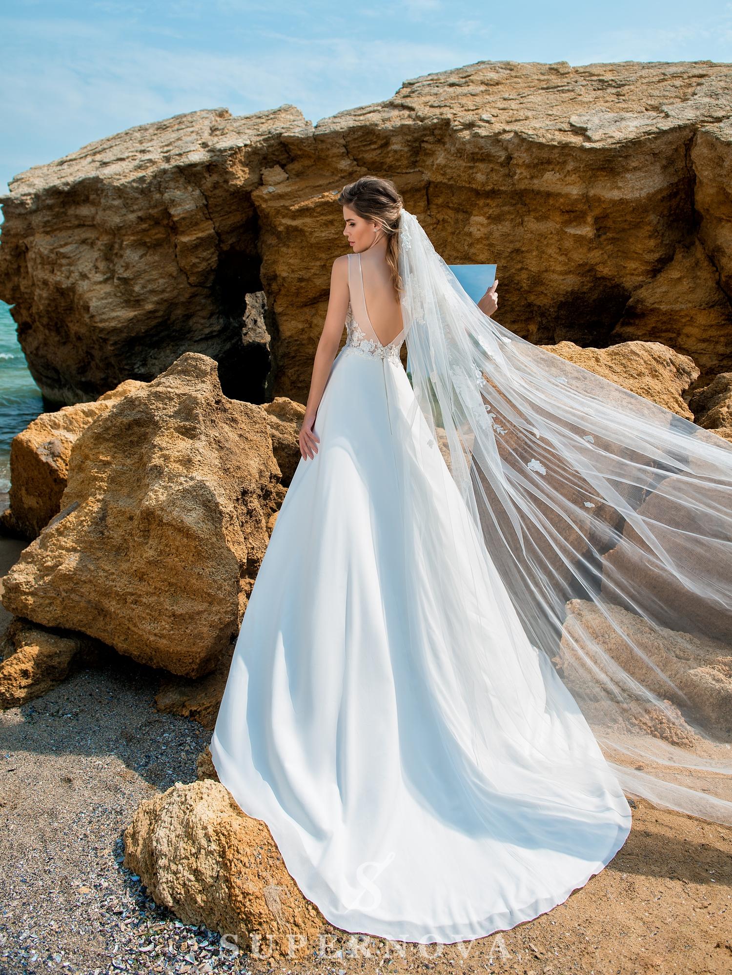 Свадебное платье с мягким корсетом-1