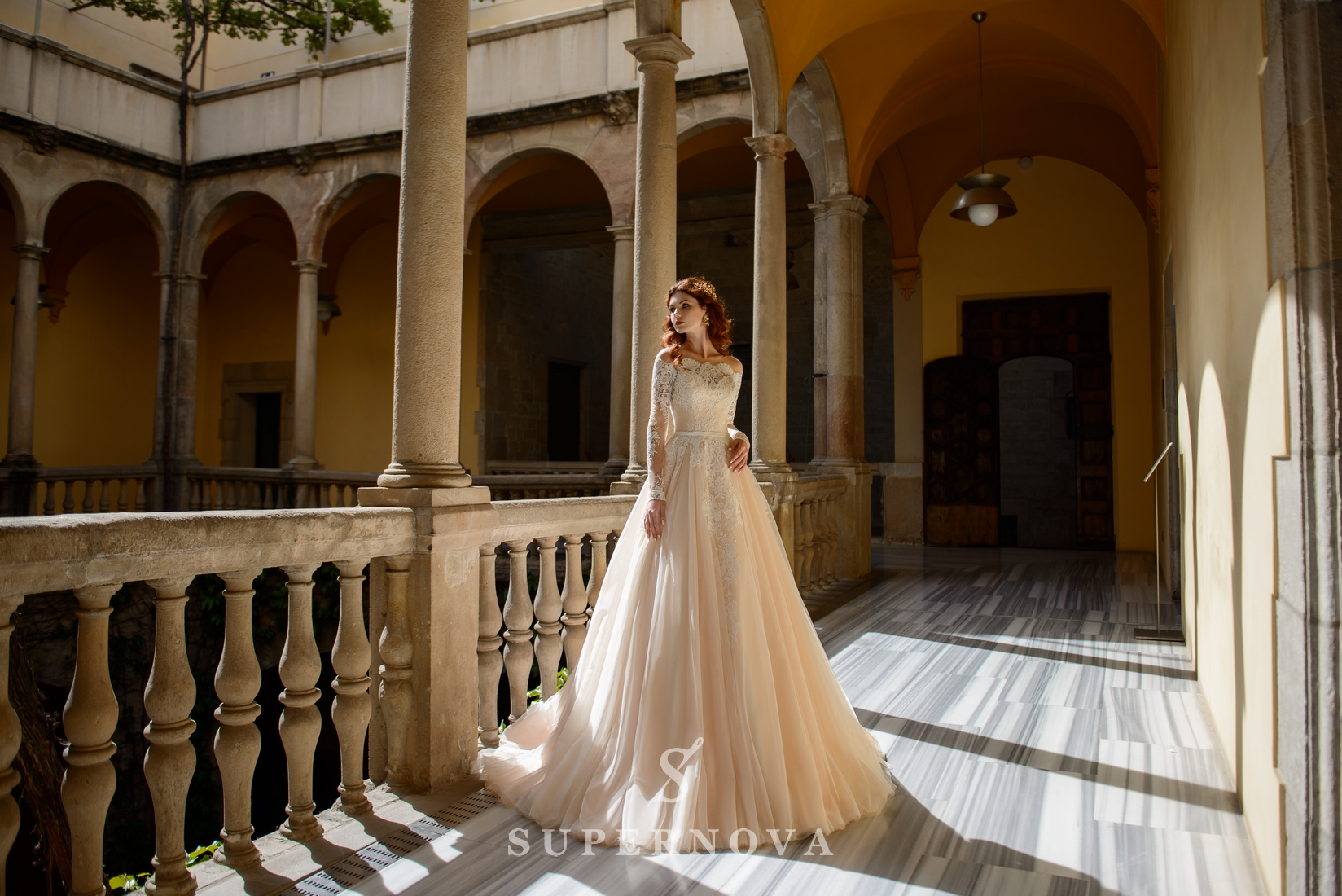 Wedding dress with open shoulders from SuperNova wholesale-1
