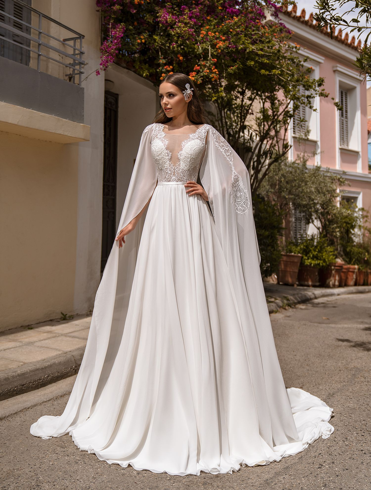 Wedding dress with removable sleeves from TM Supernova wholesale-1