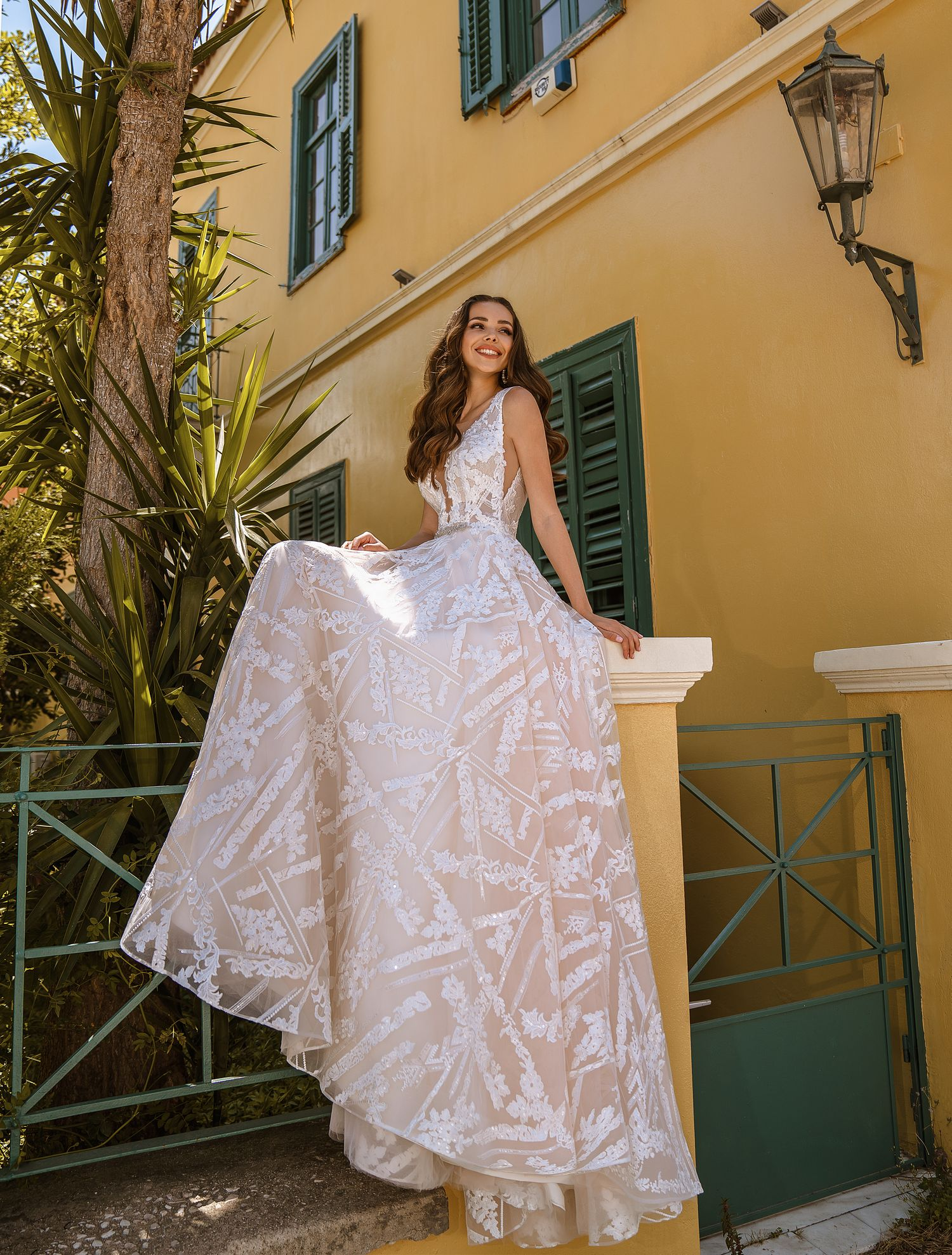 Wedding dress with cutouts on the bodice from TM Supernova wholesale-1