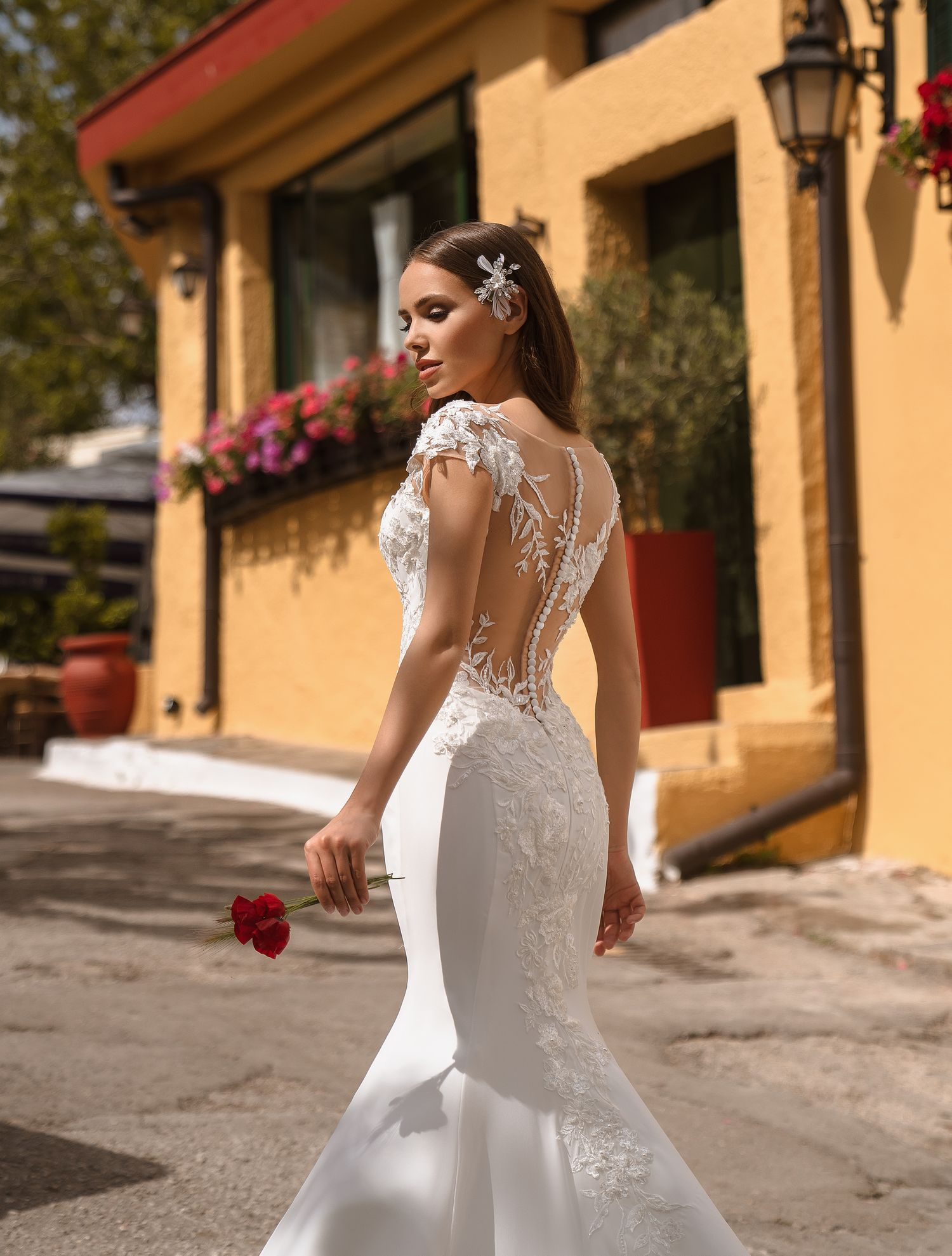 Buy wedding dress with asymmetry from TM Supernova wholesale-1