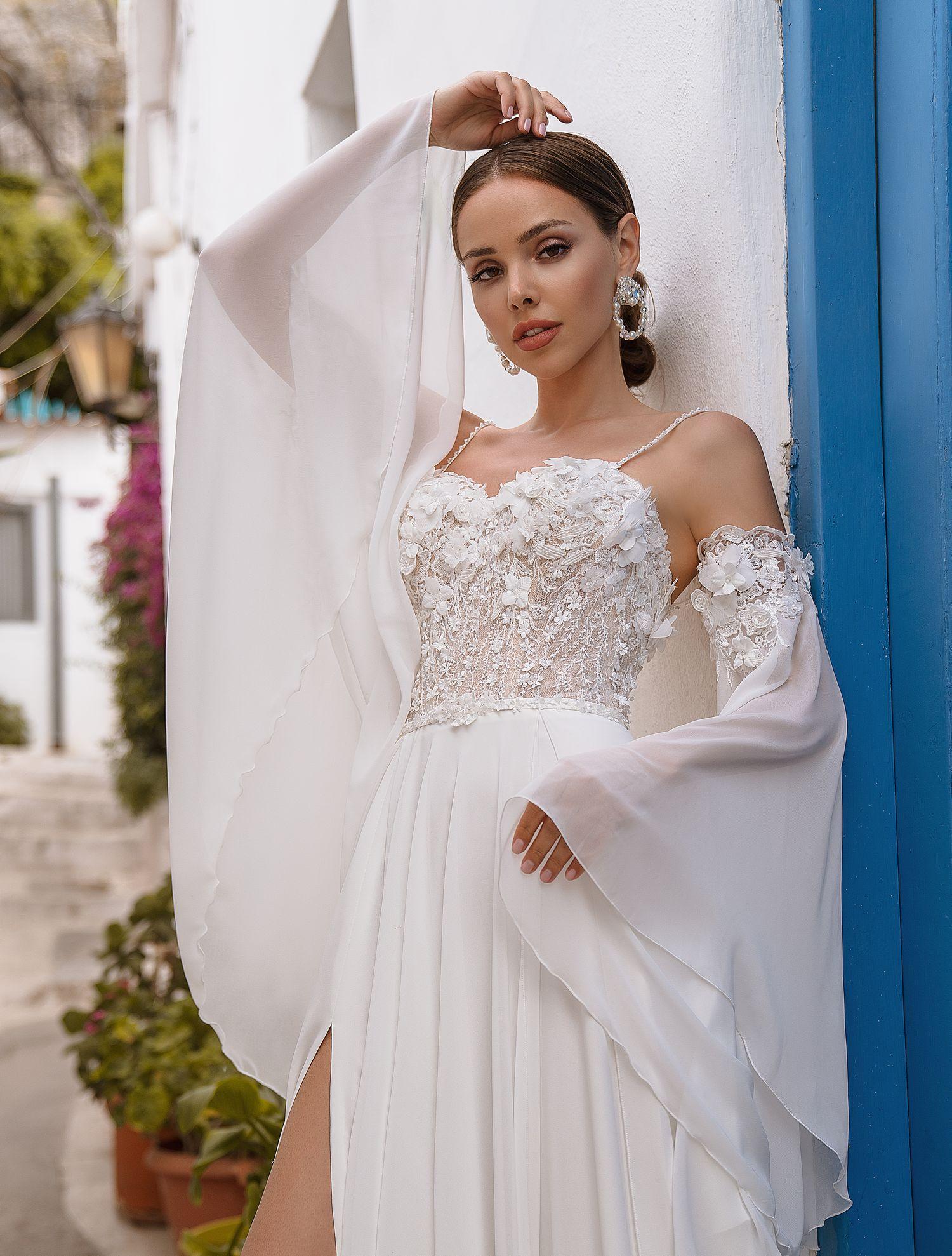 Wedding dress with belt from manufacturer Supernova wholesale-1