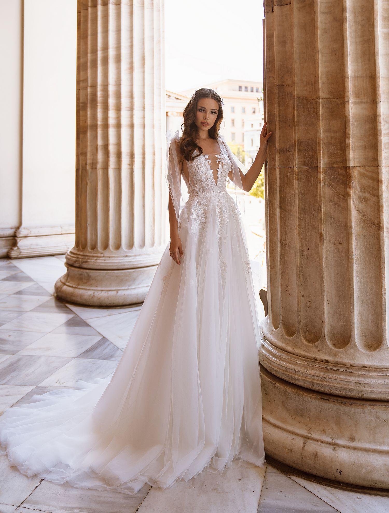 Романтичное свадебное платье с бантами от ТМ Supernova оптом-1