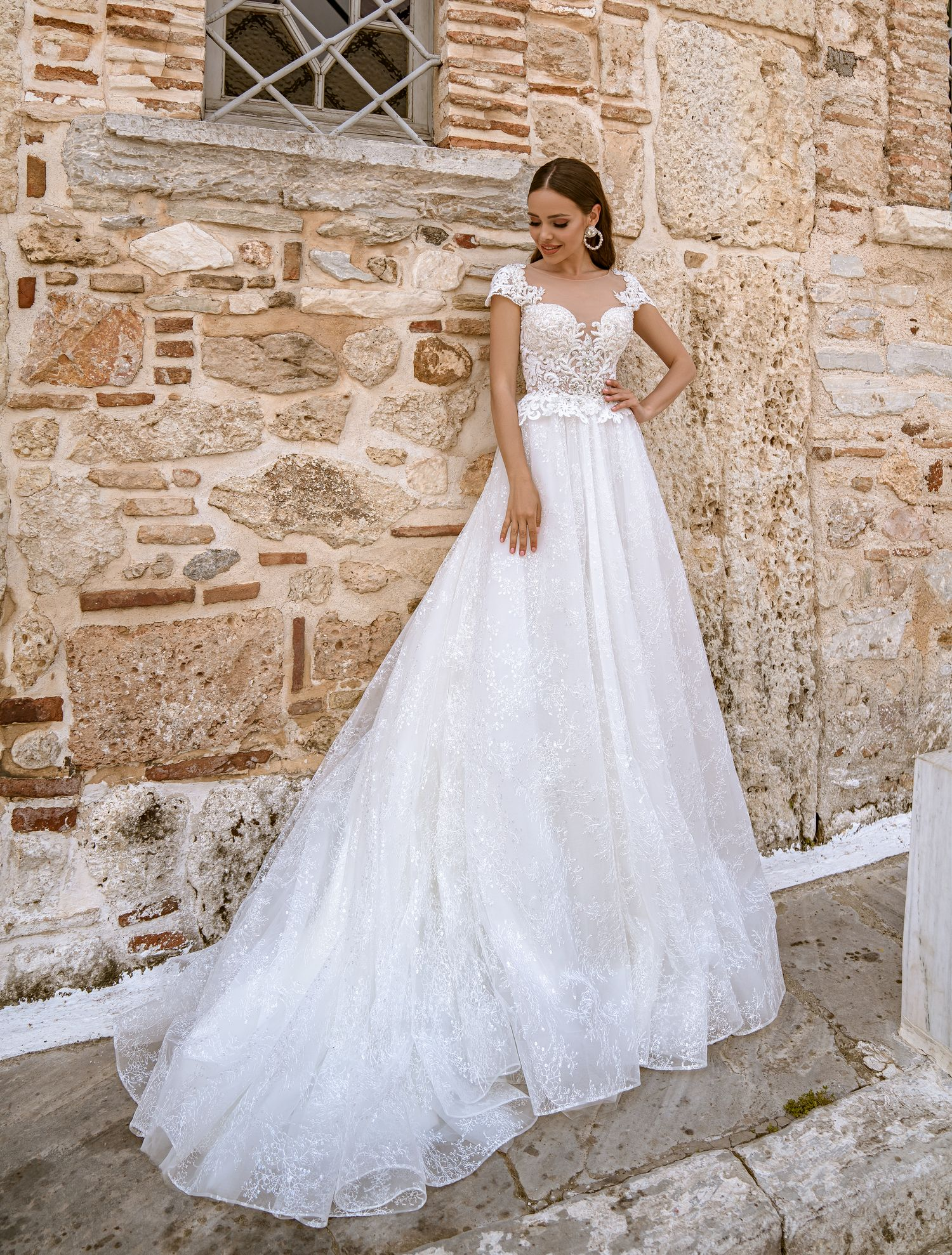 Wedding dress with short wing-sleeves from TM Supernova wholesale-1