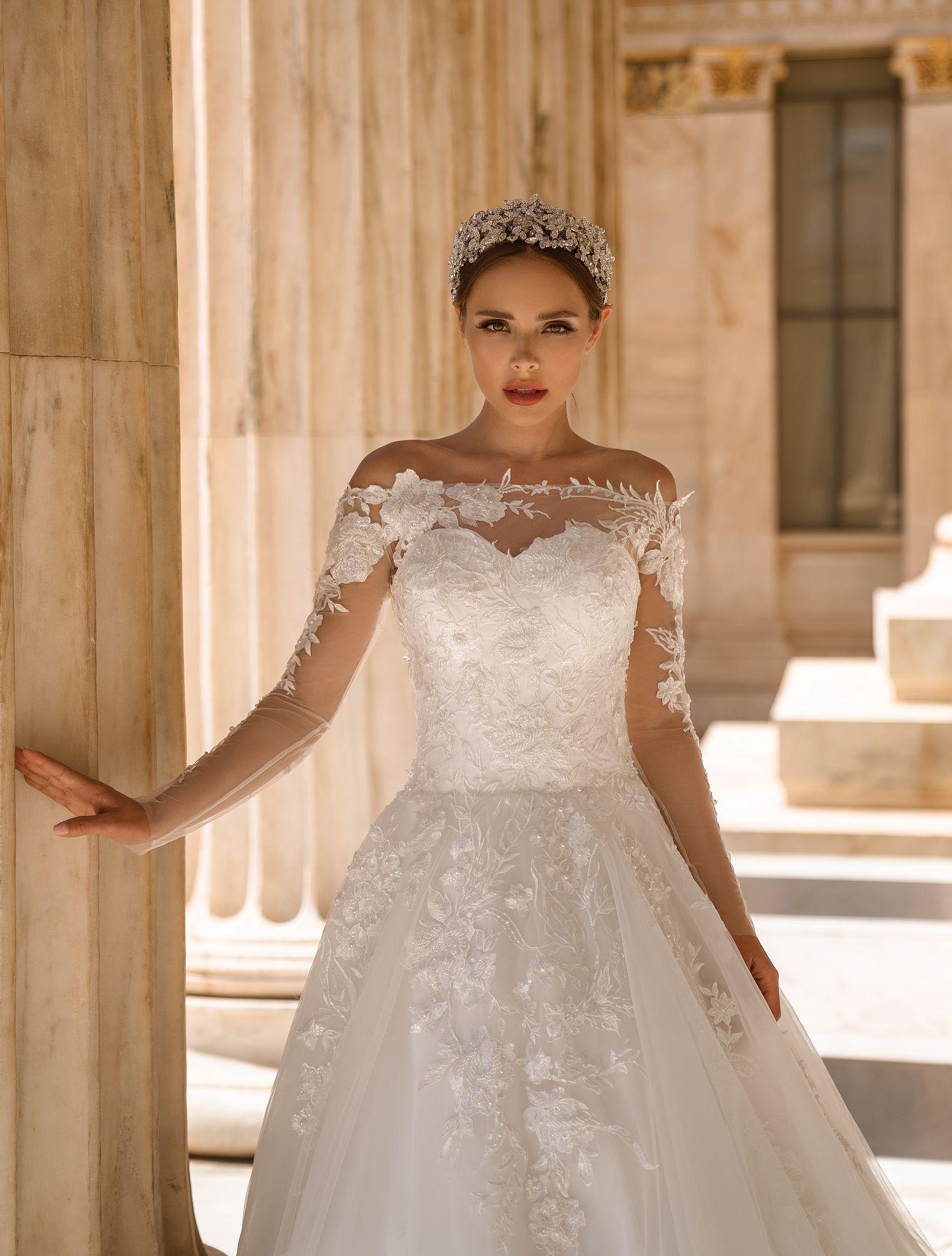 Wedding dress with bolero from manufacturer Supernova wholesale-1