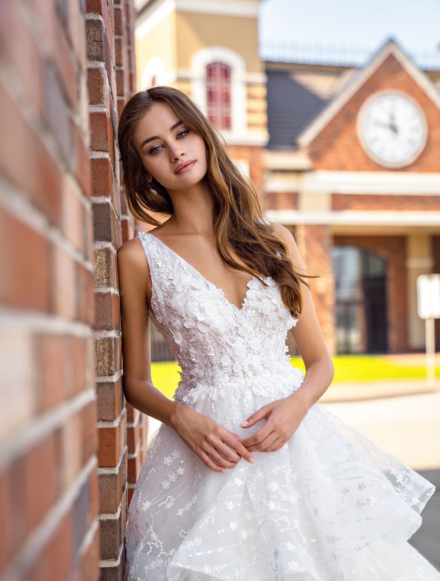 Wedding dress with ruffles wholesale from Supernova-1