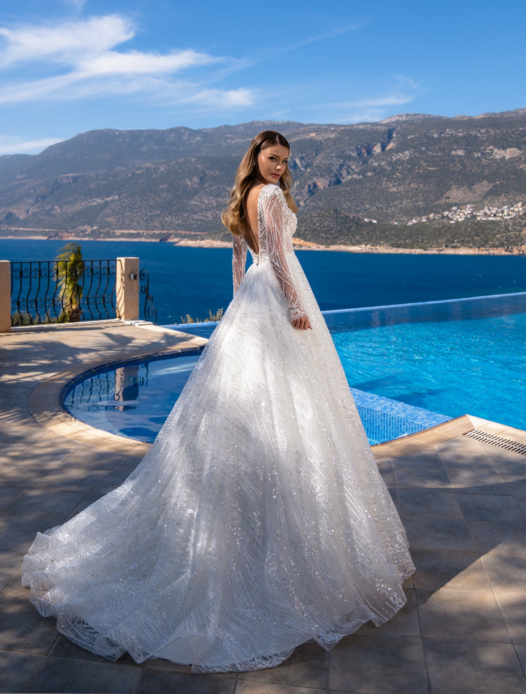 Wholesale wedding dress with long sleeves from Supernova-1