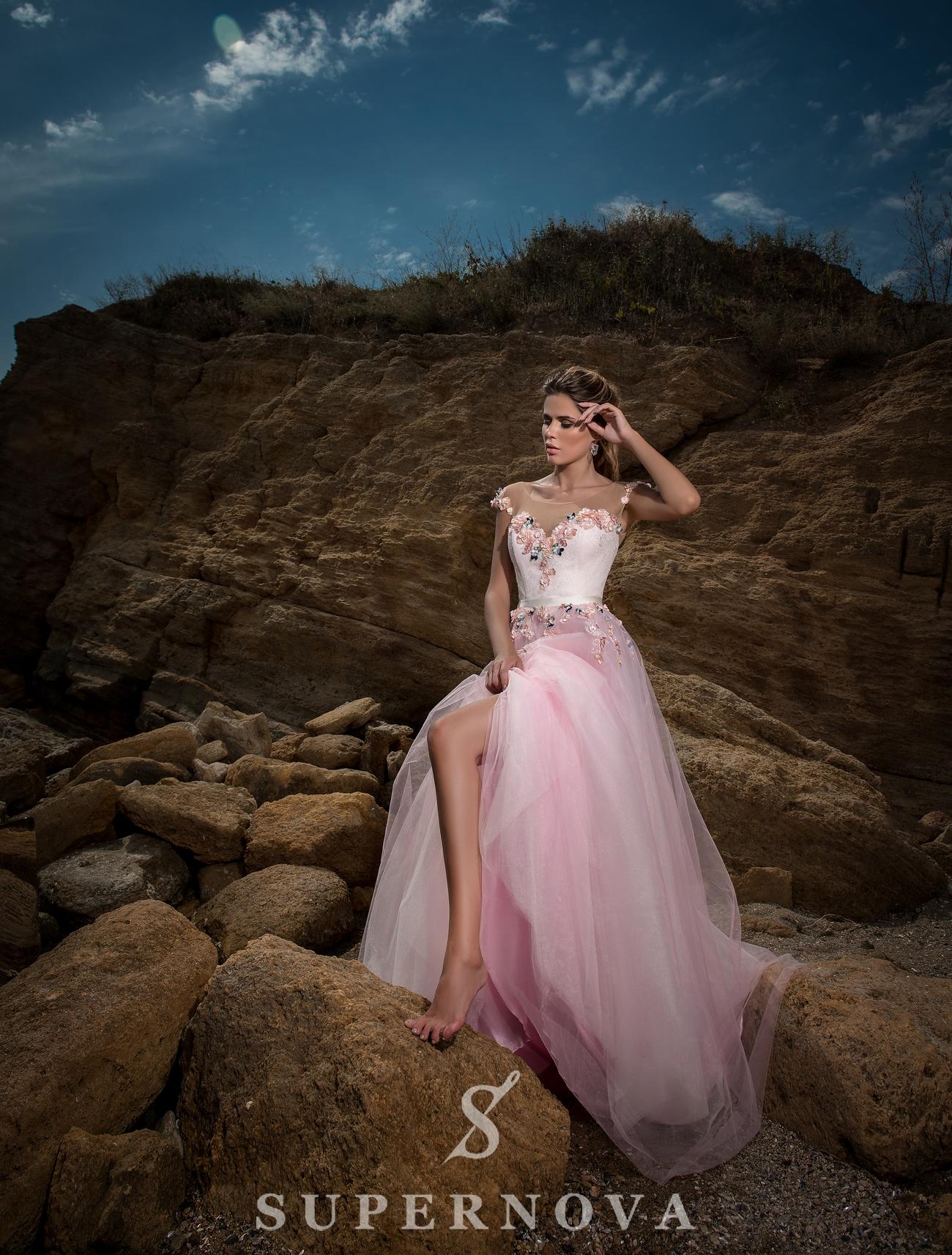 Evening dress based on yoke-1