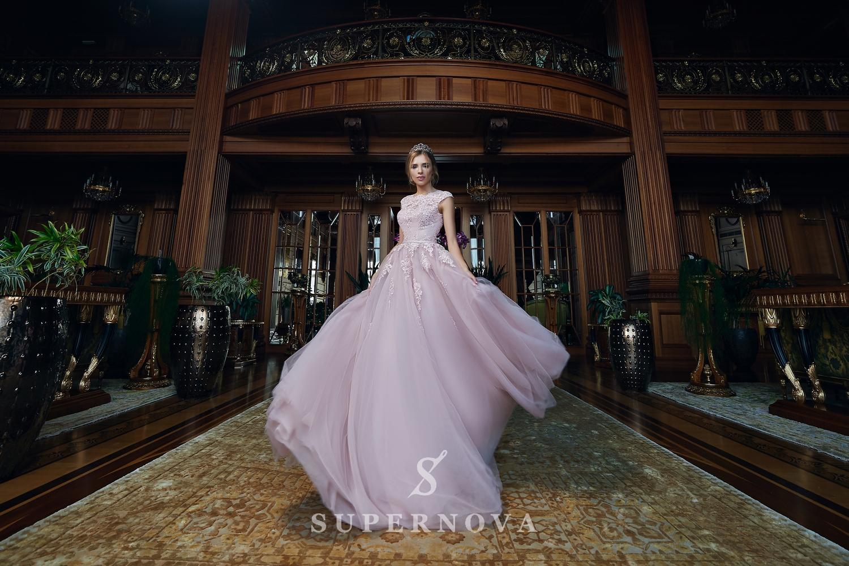 Rochie de seară cu fustă bufantă  angro de la Super Nova-1