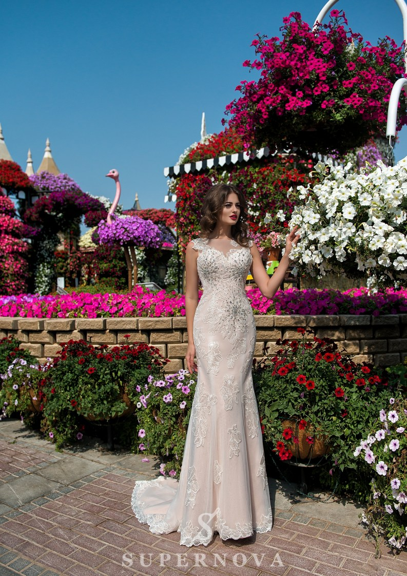 Godet wedding dress-2