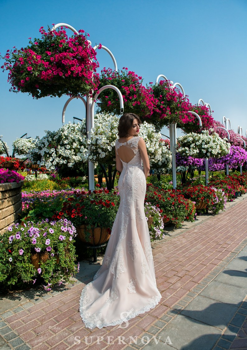Godet wedding dress-3