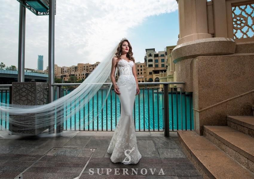 Весільна сукня зі знімним шлейфом-2