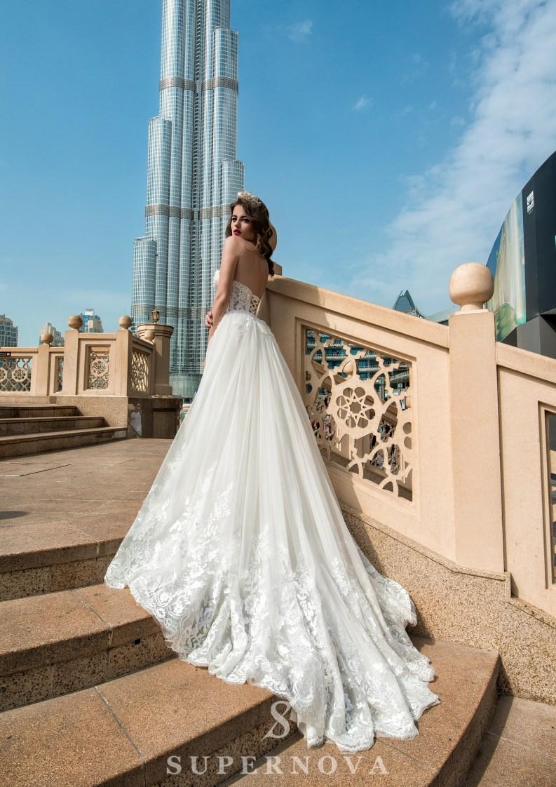 Свадебное платье со съёмным шлейфом-3