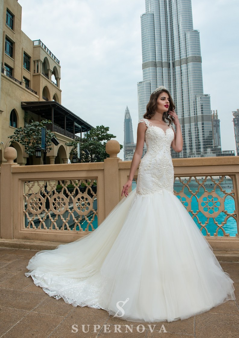 Wedding dress with a train-3