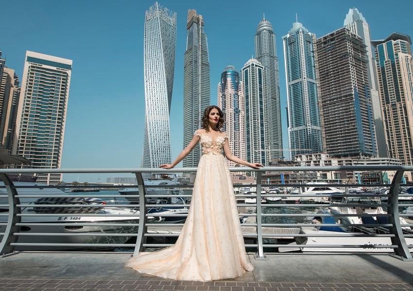 Lush skirt wedding dress-5