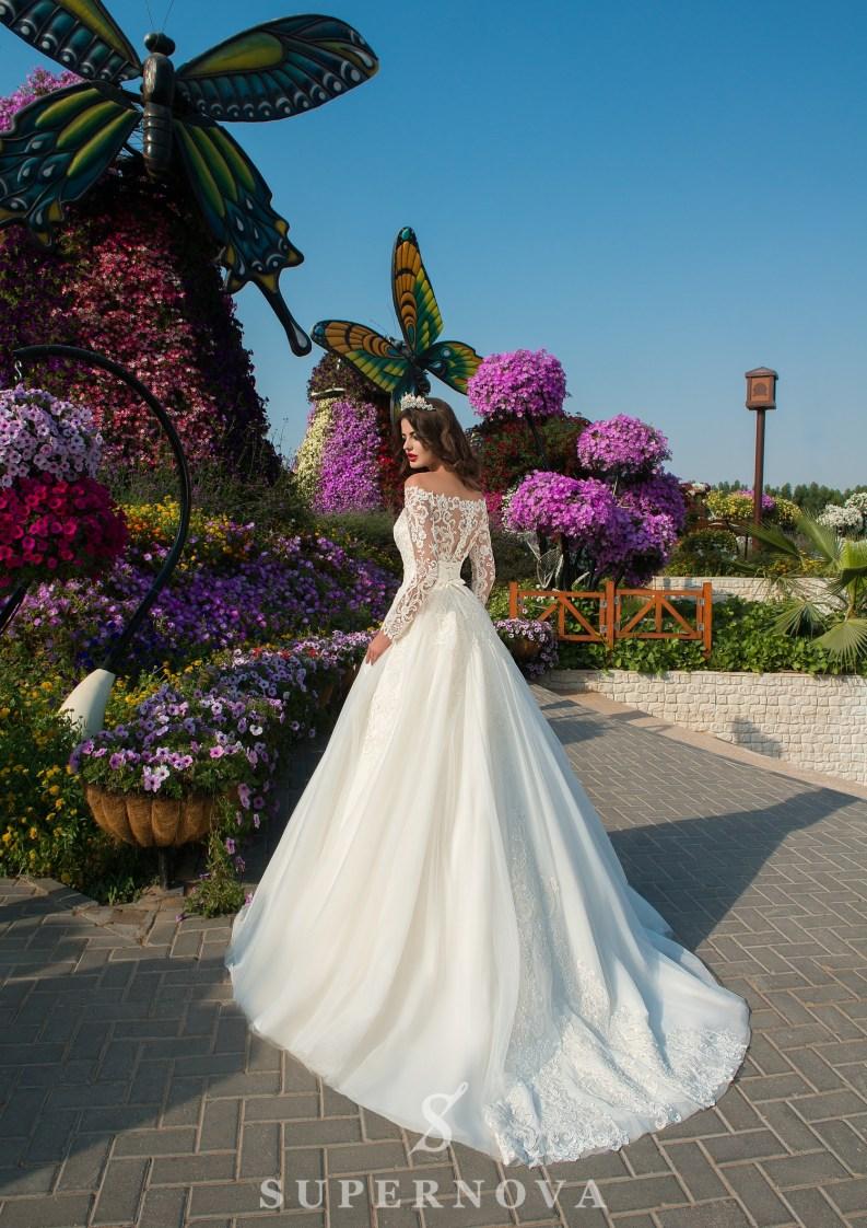 Свадебное платье из гипюра с кордом-4