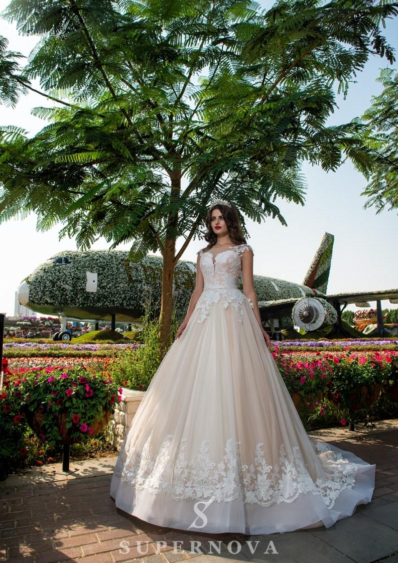 Свадебное платье с поясом-3