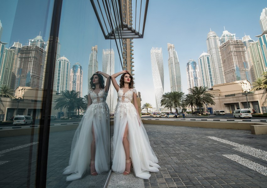 Slit wedding dress-4