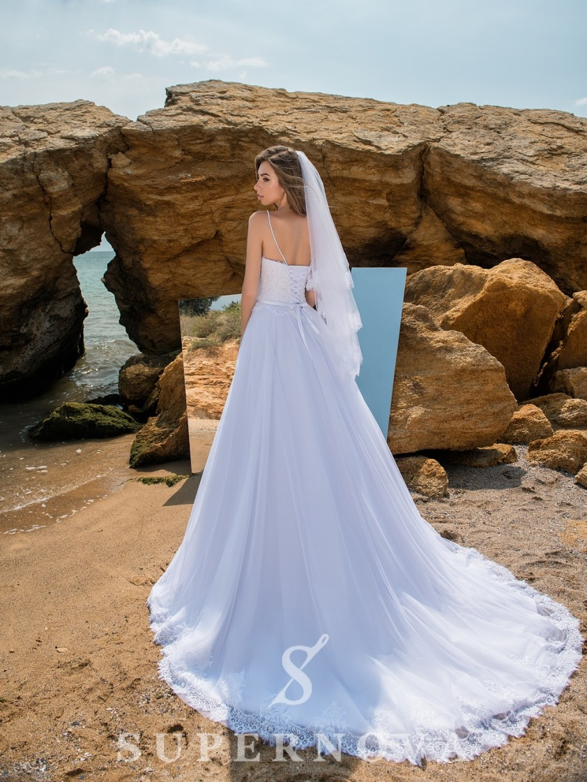 Veil with chantelle lace FN-013