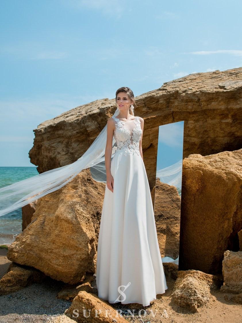 Rochie de mireasă cu un corset moale-2
