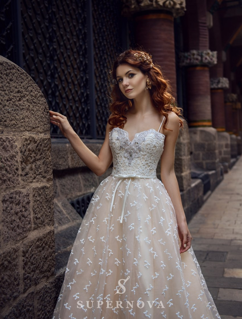 Cream wedding dress from SuperNova wholesale-3