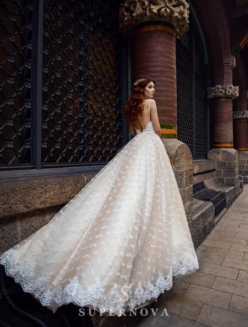 Кремовое свадебное платье от SuperNova оптом-2