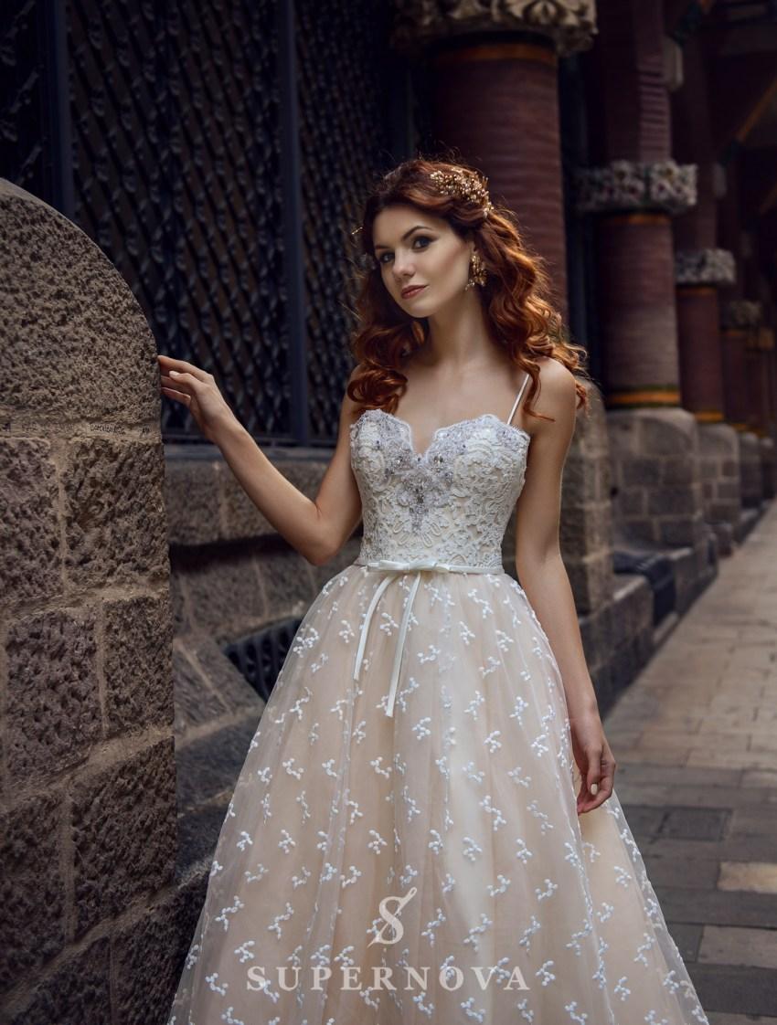 Кремовое свадебное платье от SuperNova оптом-3