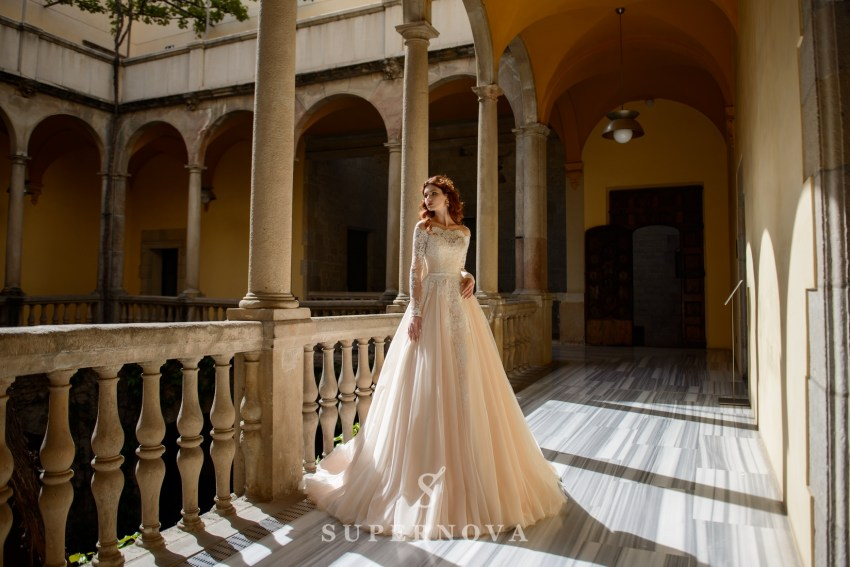 Wedding dress with open shoulders from SuperNova wholesale SN-059-Bella