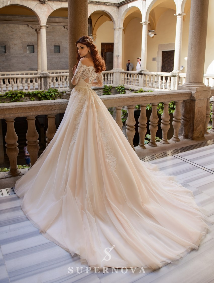 Wedding dress with open shoulders from SuperNova wholesale-2