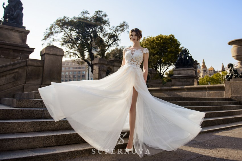 Light wedding dress from SurepNova wholesale SN-065-Brandy