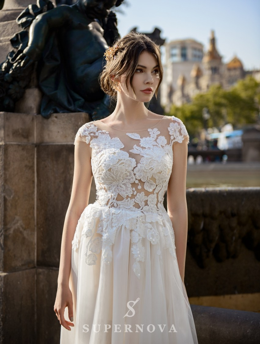 Light wedding dress from SurepNova wholesale-3