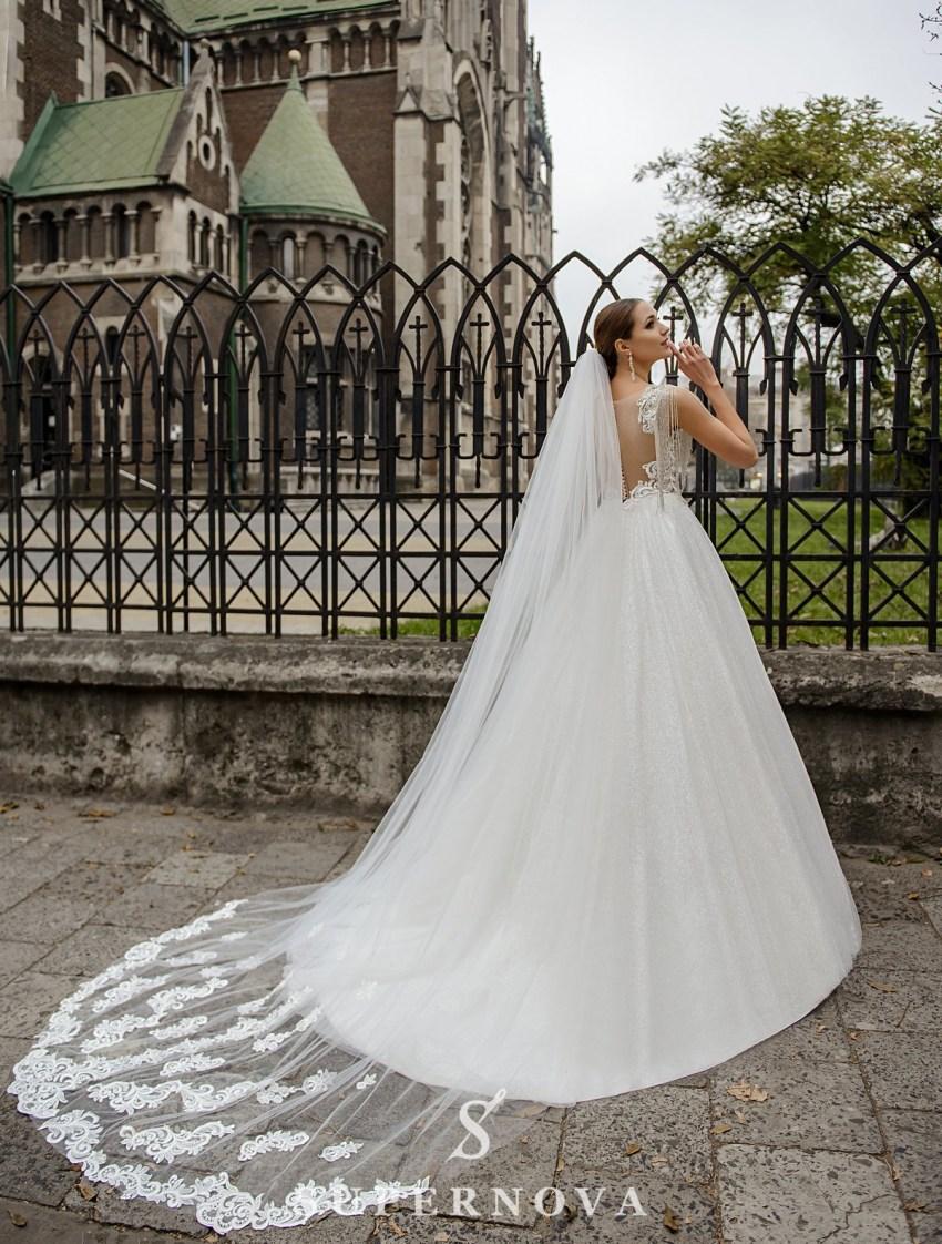 Весільна сукня з корсетом, розшитим ланцюжком оптом від SuperNova-3