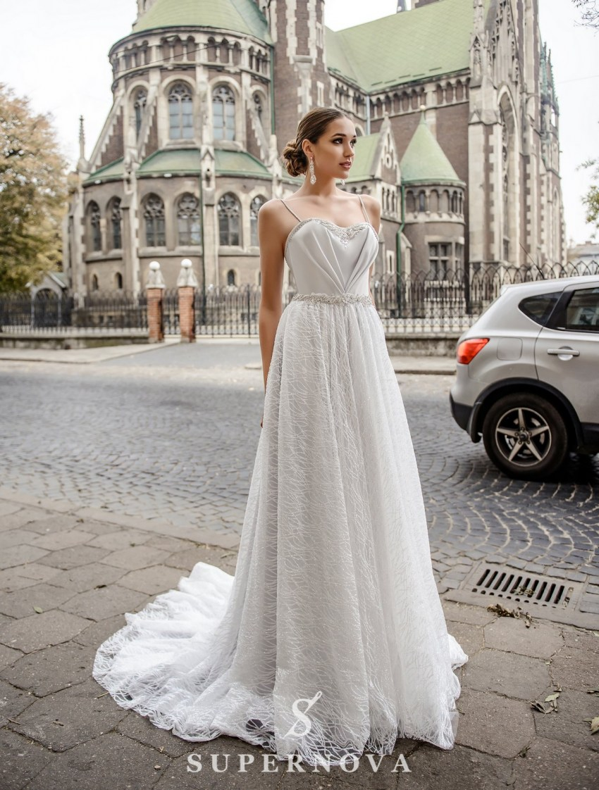 Wedding dress with drapery on the corset on wholesale from SuperNova-2