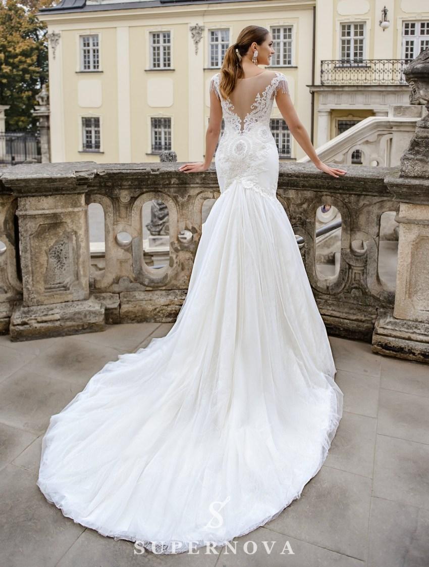 Весільна сукня «рибка», розшита перлами оптом від SuperNova-3