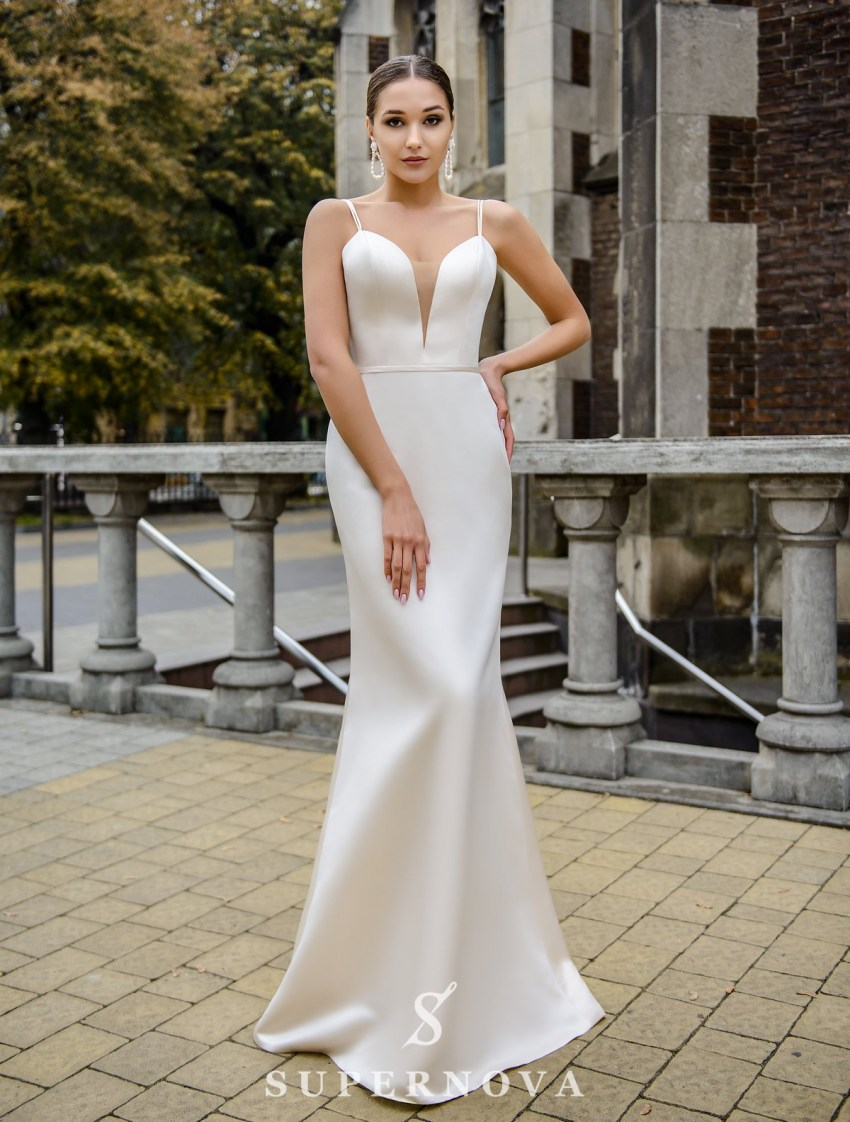Wedding set consisting of satin dress and cape wholesale from SuperNova-6
