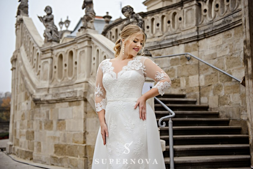 Plus size wedding dress transformer  on wholesale from SuperNova manufacturer SN-096-Noralyn