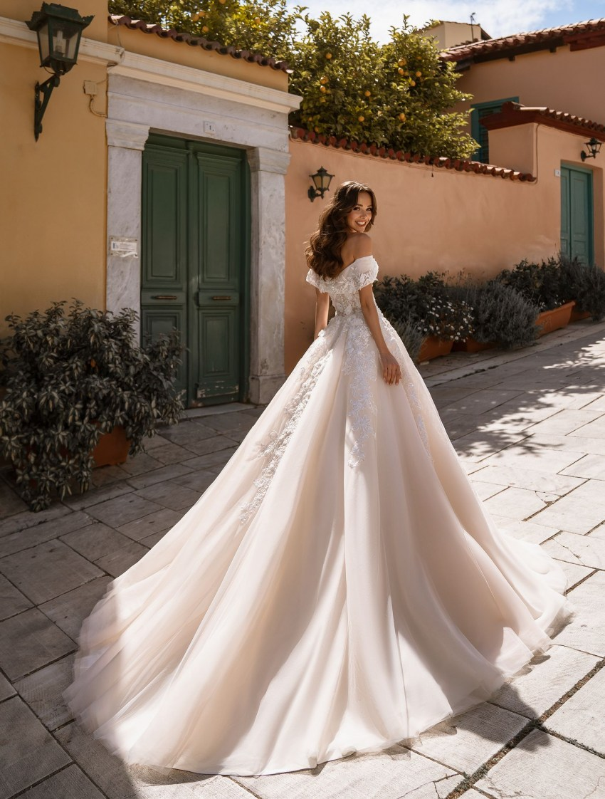 Full bridal gown classic A - silhouette from TM Supernova wholesale-6