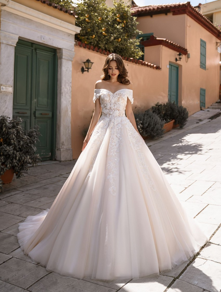 Full bridal gown classic A - silhouette from TM Supernova wholesale-8