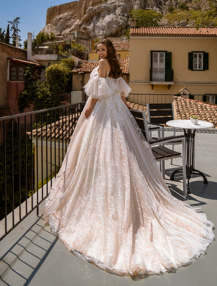Wedding dress with embroidery, beads, pearls and sequins wholesale from Supernova-7