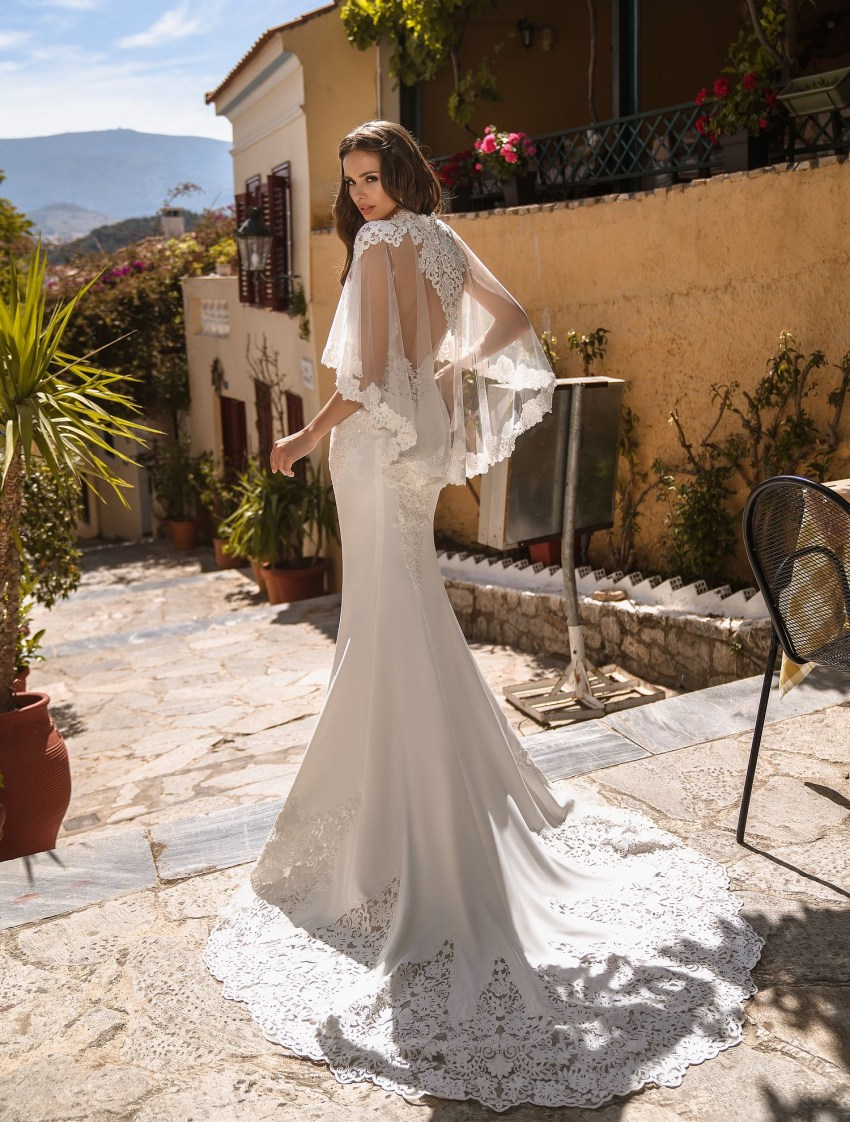 Wedding dress with cape wholesale from manufacturer Supernova-5