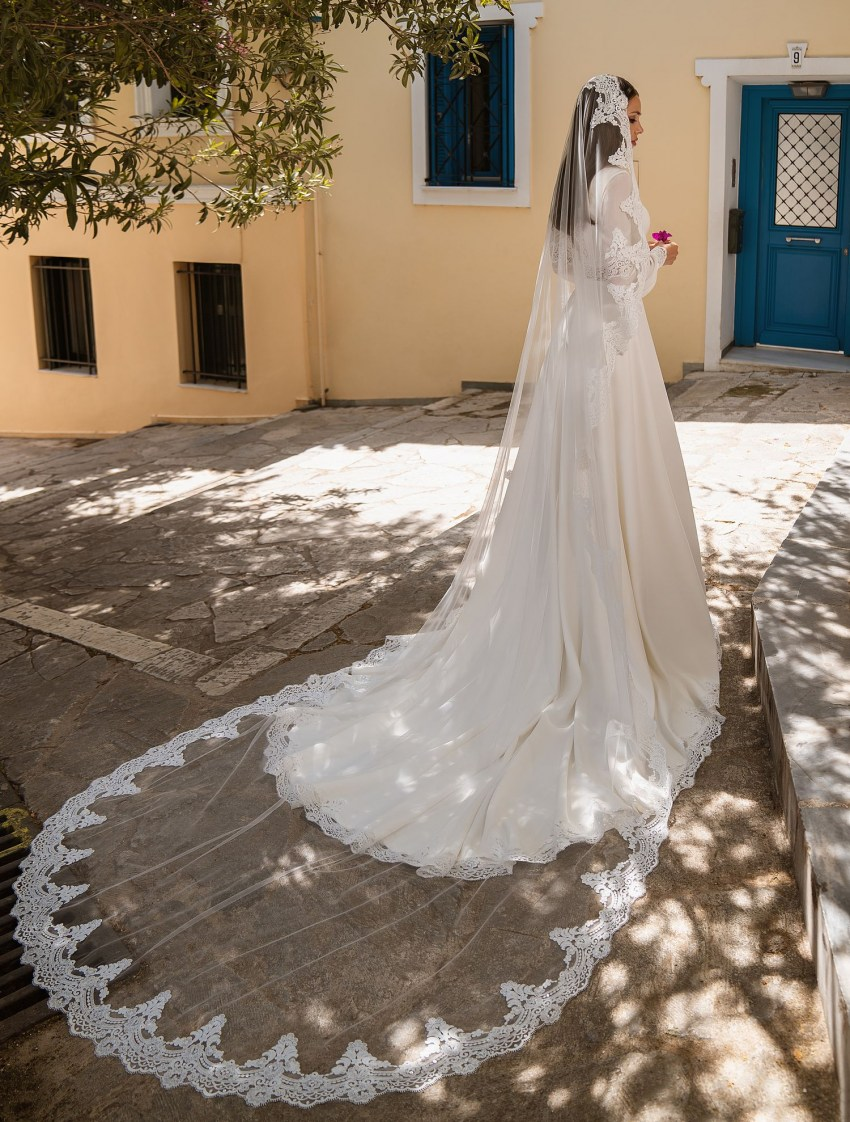 Wedding dress with transparent inserts to buy from the manufacturer Supernova wholesale-9