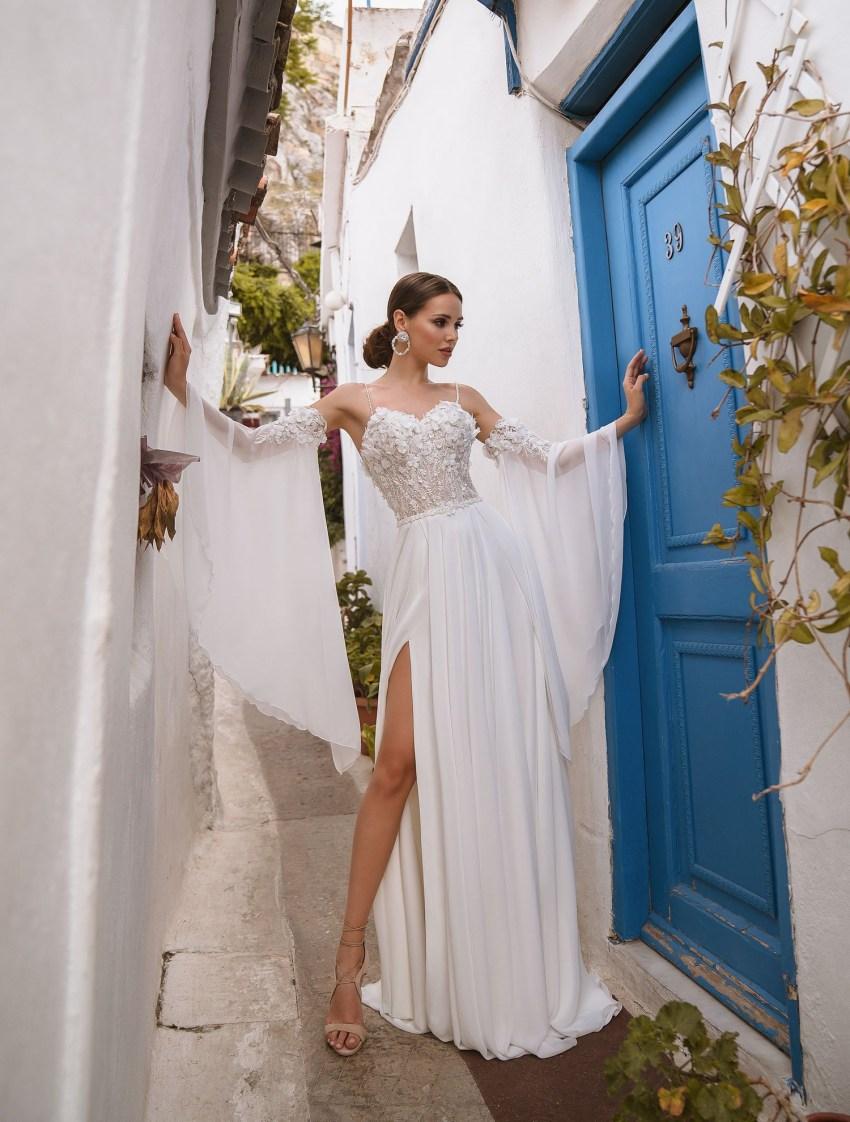 Wedding dress with belt from manufacturer Supernova wholesale-7