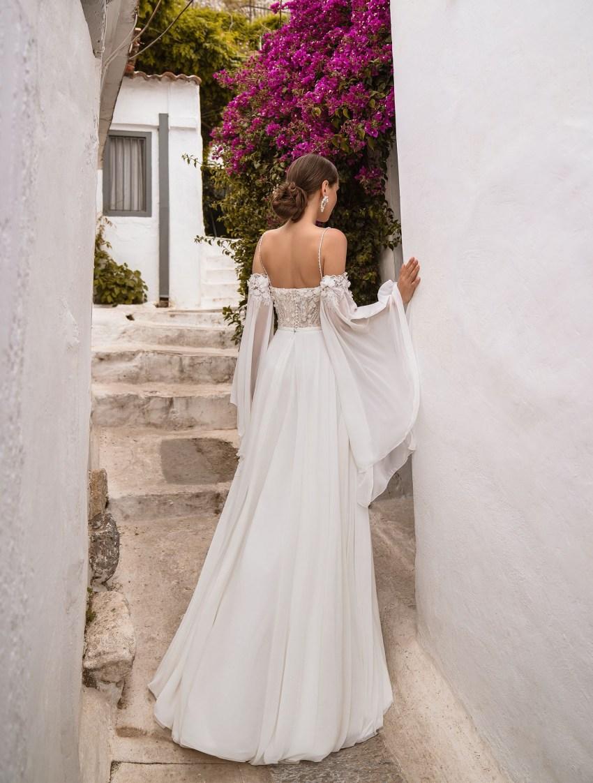Свадебное платье с поясом от производителя Supernova оптом-8