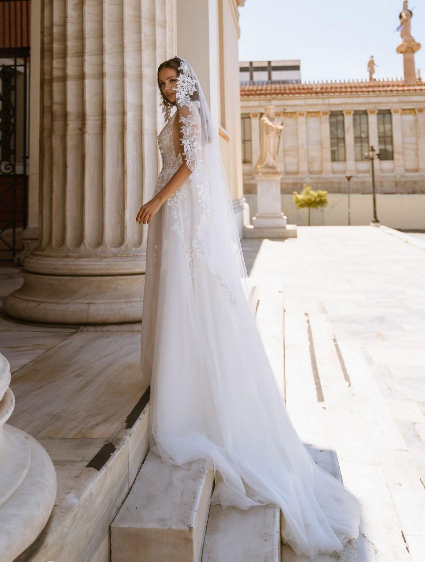Романтичное свадебное платье с бантами от ТМ Supernova оптом-9