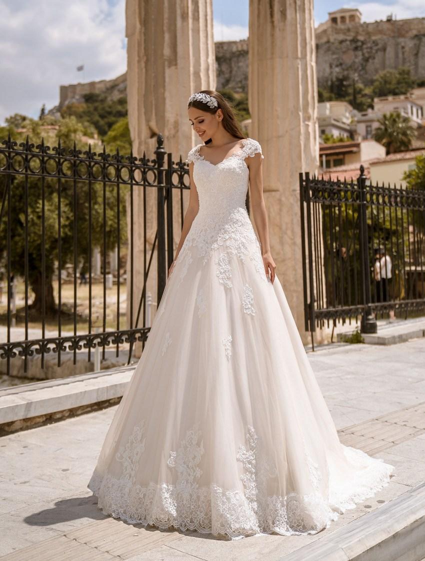 Свадебное платье на шнуровке от производителя Supernova оптом-5