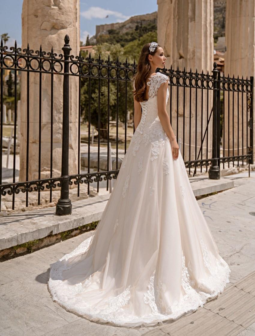 Свадебное платье на шнуровке от производителя Supernova оптом-7
