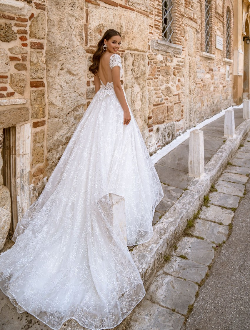 Wedding dress with short wing-sleeves from TM Supernova wholesale-7